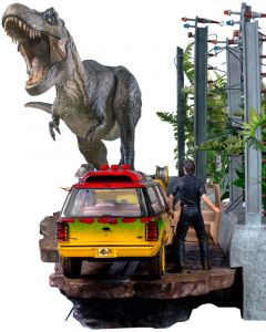 T-Rex Attack 1/10 BDS (Set A + Set B) - Jurassic Park - Iron Studios
