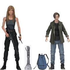 "Sarah and John Connor - 7"" Scale Action Figure - Terminator 2 - Neca"