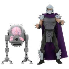"Shredder & Krang - 7"" Scale Action Figure - Teenage Mutant Ninja Turtles - NECA"