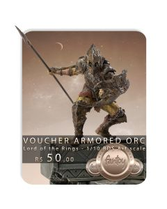 Voucher de Reserva - Armored Orc 1/10 BDS Art Scale - Lord Of The Rings - Iron Studios
