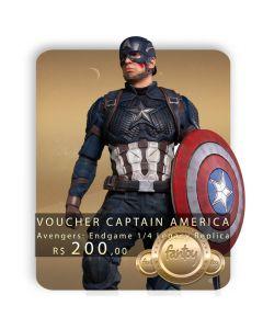 Voucher de Reserva - Captain America 1/4 Legacy Replica (VERSÃO REGULAR) - Avengers: Endgame - Iron Studios