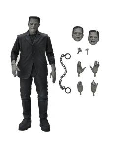 """Ultimate Frankenstein (Black & White) - 7"""" Scale Action Figure - Universal Monsters - NECA"""