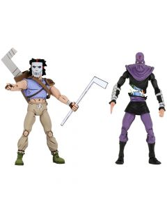 "Casey Jones vs Foot Soldier - 7"" Scale Action Figure - Teenage Mutant Ninja Turtles - NECA"