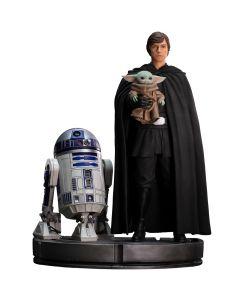 Luke Skywaker, R2-D2 and Grogu - 1/4 Legacy Replica - The Mandalorian - Iron Studios