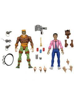 "Rat King Vs Vernon - 7"" Scale Action Figure - Teenage Mutant Ninja Turtle - Neca"