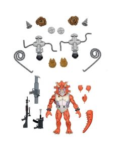 "Triceraton Infantryman and Roadkill Rodney - 7"" Scale Action Figure - Teenage Mutant Ninja Turtle - Neca"