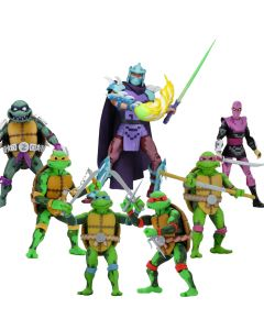 """Pack Teenage Mutant Ninja Turtle: Turtles in Time - 7"""" Scale Action - Neca"""