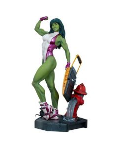 She-Hulk - Marvel Comics - Adi Granov Artist Series Statue - Sideshow Collectibles
