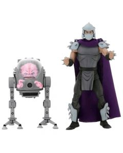 "Shredder & Krang - 7"" Scale Action Figure - Teenage Mutant Ninja Turtles - NECA"