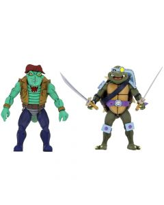 "Slash & Leatherhead - 7"" Scale Action Figure - Teenage Mutant Ninja Turtles - NECA"