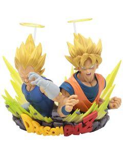 Super Saiyan Goku and Vegeta Bust (Gogeta) - Com: Figuration Vol.2 - Dragon Ball Z - Bandai / Banpresto