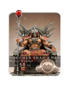 Voucher de Reserva - Shao Khan 1/10 Art Scale - Mortal Kombat - Iron Studios