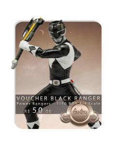 Voucher de Reserva - Black Ranger - 1/10 BDS Art Scale - Power Rangers - Iron Studios