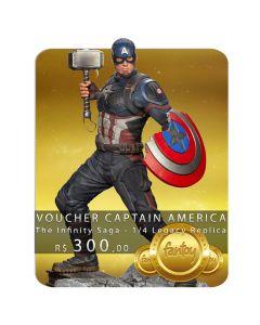 Voucher de Reserva - Captain America - 1/4 Legacy Replica - The Infinity Saga - Iron Studios