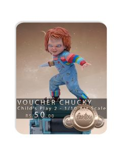 Voucher de Reserva - Chucky - 1/10 Art Scale - Child's Play 2 - Iron Studios