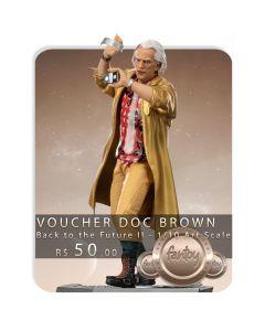 Voucher de Reserva - Doc Brown - 1/10 Art Scale - Back To The Future II - Iron Studios