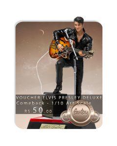 Voucher de Reserva - Elvis Presley Deluxe 1/10 Art Scale - Comeback - Iron Studios