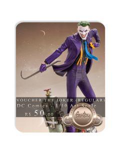 Voucher de Reserva - The Joker (VERSÃO REGULAR) 1/10 Art Scale - DC Comics - Iron Studios