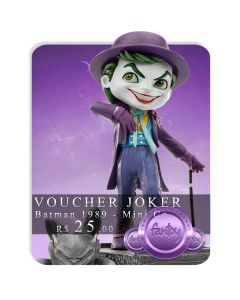Voucher de Reserva - The Joker - Minico Figures - Batman 1989 - Mini Co.