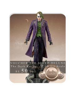 Voucher de Reserva - The Joker Deluxe - 1/10 Art Scale - The Dark Knight - Iron Studios