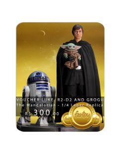 Voucher de Reserva - Luke Skylwaker, R2-D2 and Grogu - 1/4 Legacy Replica - The Mandalorian - Iron Studios