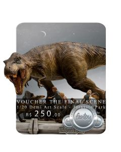 Voucher de Reserva - The Final Scene - 1/20 Demi Art Scale - Jurassic Park - Iron Studios
