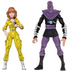"April O'Neil vs Foot Soldier - 7"" Scale Action Figure - Teenage Mutant Ninja Turtles - NECA"