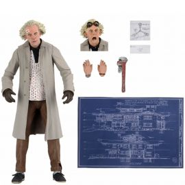 """Ultimate Dr. Brown - 7"""" Scale Action Figure - Back to the Future - Neca"""