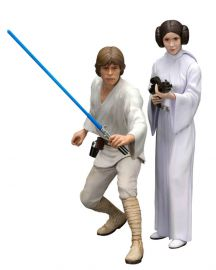 Luke Skywalker & Princess Leia - Star Wars IV - Two-Pack ARTFX+ - Kotobukiya