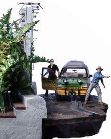 T-Rex Attack 1/10 BDS (Set B) - Jurassic Park - Iron Studios