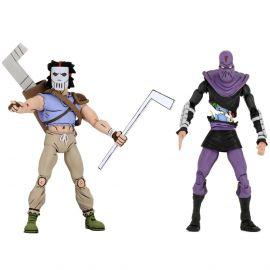 """Casey Jones vs Foot Soldier - 7"""" Scale Action Figure - Teenage Mutant Ninja Turtles - NECA"""