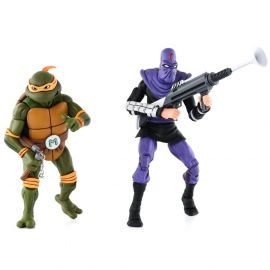 Michelangelo vs Foot Soldier - Teenage Mutant Ninja Turtles - 2-Pack - Neca