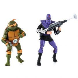 Michelangelo vs Foot Soldier - Teenage Mutant Ninja Turtles - 2-Pack - Neca