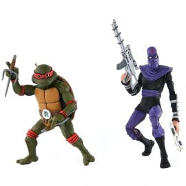 Raphael vs Foot Soldier - Teenage Mutant Ninja Turtles - 2-Pack - Neca