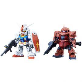 RX-78-2 Gundam & MS-06S Zaku II - Model Kit - Gundam SDCS - Bandai