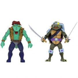 """Slash & Leatherhead - 7"""" Scale Action Figure - Teenage Mutant Ninja Turtles - NECA"""