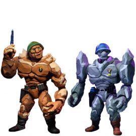 """Traag & Granitor – 7"""" Scale Action Figure – Teenage Mutant Ninja Turtle – Neca"""